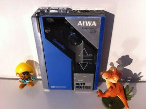 AIWA HS-P7/P07 Cassette Player Walkman Kassettenspieler Japanese color Blue
