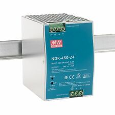 NDR-480-24 Din-Rail power supply 480W 24Vdc 20A ; MeanWell, PSU, price Incl VAT