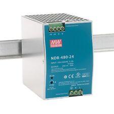NDR-480-24 DIN-Rail Alimentazione 480W 24Vdc 20A; MeanWell, PSU, prezzo incl VAT