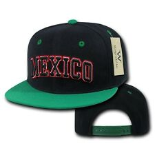 Black Mexico Mexican Soccer Flat Bill Snapback Snap Baseball World Cup Hat  Cap 23da93663a9b