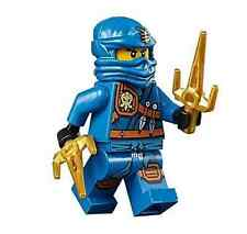 LEGO NINJAGO 70749 Jay - Knee Pads Minifigure NINJA With 2 GOLD Weapon New D34