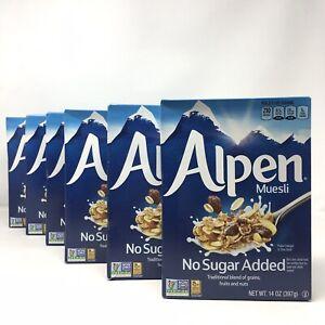 6ct Alpen Muesli, Swiss Style Muesli Cereal, Whole Grain, Non-GMO,no Added Sugar