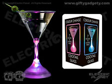 Light-Up Colour-Changing LED Martini Cocktail Glass (Acrylic) - Gift Boxed