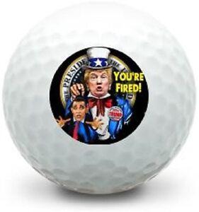 3 Dozen (Trump Your Fired LOGO) Limted Edition Taylor Made AssortMint Golf Balls