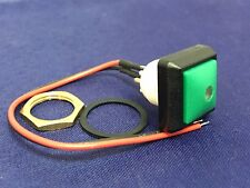 SPST-NO Maintained Push Button Switch, IP67, 0.536in, Panel Mount Red LED