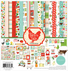 Carta Bella Paper FARM TO TABLE 12x12 Scrapbook Cardstock Collection Kit