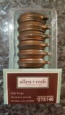 Allen + Roth 275146 Prussian Gold Curtain Clip Rings (Set of 7) New