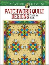 ADULT COLORING BOOK ~ PATCHWORK QUILT  DESIGNS ~ REMOVEABLE PAGES 4 FRAMING!!!