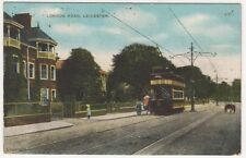 Leicester, London Road Tram Postcard B631
