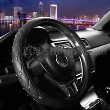 Car Steering Wheel Cover Crystal Diameter Super Fiber Leather Bling Shinny 38cm