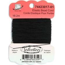 Elástico Hilo para Cuentas 18.2m Negro