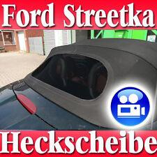 Ford Streetka Convertible Rear Windscreen Black with Zipper New like Orig