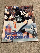 1978 Toronto Argonauts Preseason CFL Football Program 7/4