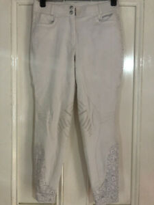 Just Togs Ladies White Competition Dressage Breeches 30 (12/14)