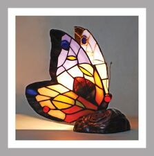 Butterfly Stained Glass Tiffany Style Table Lamp Bedside Table Lamp Brand New 2