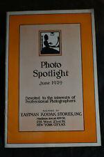 1929 Photo Spotlight by Kodak *Catalog*Professional Photography*