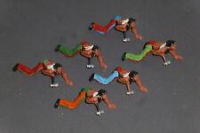 Konvolut 6 alte Elastolin Indianer mit Tomahawk 6828 7cm Wild West