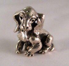 Miniatura statuina argento Cagnolino fatta a mano argento 800 cm 2 x 2