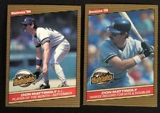 2 Don Mattingly 1986 Donruss Highlights Cards #53 & #48 - New York Yankees