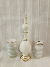 Apothecary Show Globe ~ Pharmacy Display Owens Illinois Glass + Candleholders