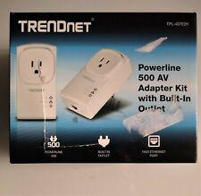 TRENDnet Powerline 500 AV Adapter Kit with Built-In Outlet