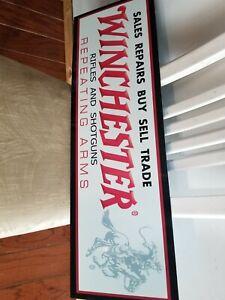 Winchester sign DEALER GUN STORE SIGN SHOTGUN