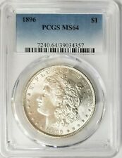 1896-P - Morgan Silver $1 PCGS MS64 GEM BU
