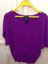 Lane Bryant Plus Size 14W Woman's Purple sweater top Rayon Nylon Buttons