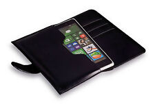 Universal Mobile Phone Pouch Cover Case Sleeve Pouch in book style format Black L (5)