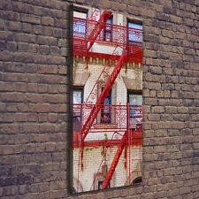 Leinwand-Bild Kunstdruck Hochformat 50x125 Bilder Italienisches Mietshaus