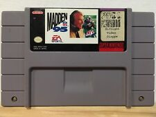 Madden NFL 95 (Super Nintendo Entertainment System, Snes 1994) Authentic