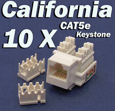 10 X Pcs lot Keystone Jack CAT5e Network Ethernet 110 Style Punch Down 8P8C RJ45
