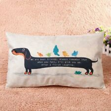 Dachshund Sausage Dog Doxie Pet Novelty Animal Throw Cushion Cover Weeiner Gift