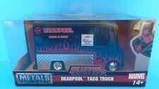 JADA TOYS MARVEL DEADPOOL TACO TRUCK BLACK & RED METALS DIE-CAST 1/32 SCALE NEW