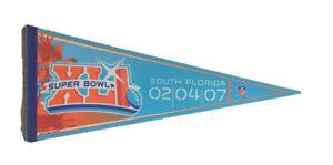 NFL Super Bowl XLI South Florida 02/04/2007 Full Size Felt Pennant NFL Football