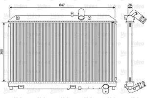 Engine Cooling Radiator VALEO Fits MAZDA Rx Coupe 2.6L 2003-2012
