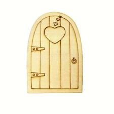 Engraved Heart Pattern Wood Door Shape Craft Laser Cutout DIY 10pcs