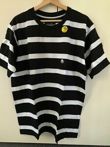 Cotton On Men's T shirt L Black & White stripe BNWT