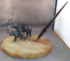 Eversharp  Vintage Two Elephant SIngle Pen Desk Set--working