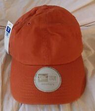 Adult Baseball Cap Hat Adjustable Strapback WOMEN Burnt Orange NWT