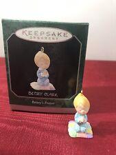 1998 Hallmark Betsey Clark Betsey's Prayer Miniature Ornament Mib