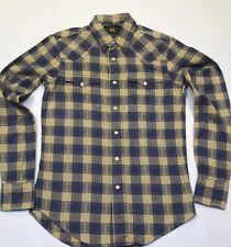 Rrl by ralph lauren women plaid sergé chemise de travail-taille 1