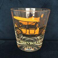 CHEVROLET FORD CHEVY CAR VTG 70s 60s Old Fashsion Glass Lo Ball Whiskey Bar MCM