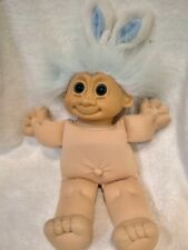 Russ Troll Doll Blue Eyes Bunny Rabbit Easter Theme Ears Missing Clothes