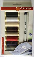 GUTERMANN Sew tutti filo 100m x 8 + PRYM trickmarker Kit Box Set Colori di base