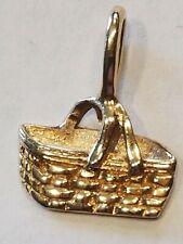 Longaberger Woven Memories Basket Charm 14k Gold