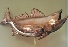 Beautiful copper/brass 3D Fish weathervane, Top Only Fits over a 3/8'' top rod
