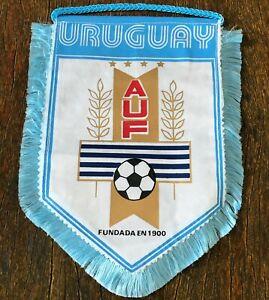 Uruguay soccer AUF mini Pennant vintage. Official