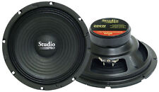 PAIR of Pyramid WH8  8-Inch 200 Watt High Power Paper Cone 8 Ohm Subwoofer