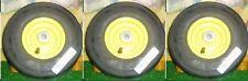 3 -JOHN DEERE/DIXON(A39)11x400x5 CASTER  ASSEMBLIES 4PLY YELLOW 17080, AM-101589